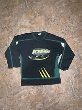 Louisiana Ice Gators Med-XLarge Coyote Promotions 12 Hockey Jersey Black Green