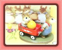 ❤️Wee Forest Folk The Little Red Wagon M-151 1987 William Petersen Mice Figure❤️