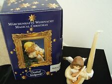 """GOEBEL """"WEIHNACHT"""" ANGEL WITH CANDLE PLAYING THE MANDOLIN # 42-077-07-3"""