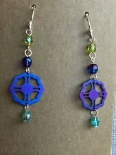 Holly Yashi Blue Purple Earrings
