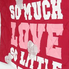 NEW Victoria's Secret LOVE PINK Leopard Red Bling TWIN XL COMFORTER Dorm Blanket