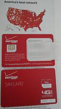VERIZON MICRO 3FF SIM Card • CDMA 4G LTE • NEW Genuine OEM • Prepaid