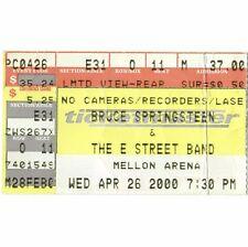 BRUCE SPRINGSTEEN Concert Ticket Stub PITTSBURGH PA 4/26/00 REUNION TOUR Rare