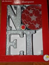 NEW Noel LED Light-Up Mr. Christmas Marquee Sign Outdoor Decoration - FREE SHIP