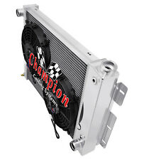 """4 Row Perf Radiator W/ 2 10"""" Fans for 1967 68 1969 Chevy Camaro Small Block Eng"""
