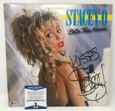 Vintage! STACEY Q Signed 1986 Better Than Heaven RECORD Album COVER Beckett COA