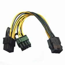 6-pin to Dual 8-pin PCI Express Power Converter Cable for GPU Video Card PCI-E