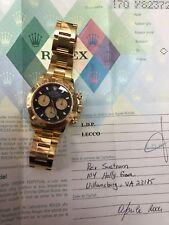 ROLEX DAYTONA 116528 18k YELLOW GOLD BLACK (PAUL NEWMAN DIAL) box & papers