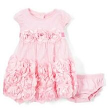 PINK Rosette Fit & Flare Dress with Diaper Cover - Size 24 Months  NWT