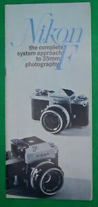 VINTAGE  NIKON F SALES BROCHURE - 28 PAGES