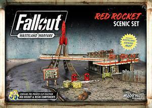 Fallout: Wasteland Warfare - Red Rocket Scenic Set (New)