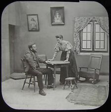 Glass Magic Lantern Slide PADDLE YOUR OWN CANOE NO5 C1890 PHOTO VICTORIAN TALE