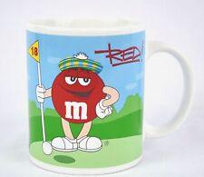 M&M Sports Mug Blue Football & Red Golf M&M by Galerie  2002