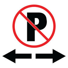 "No Parking On Both Sides Sign 8"" x  8"""