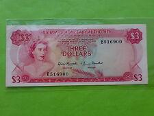 Bahamas 3 Dollar QEII 1968 (aUNC)