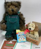 Ashton Drake Benjamin Teddy Bear 12in with Plush Puppy 1995 Limited Edition Cert