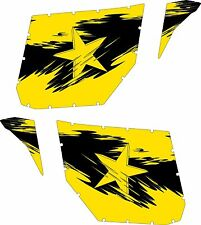 Pro Armor Door Graphics Kit  Can-Am Commander Yellow Can Am Decal Sticker