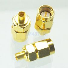 1x Adapter SMA male plug to MMCX female jack connector straight gold plating M/F