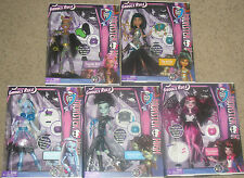 Set of 5 Monster High GHOULS RULE Dolls ABBEY Clawdeen CLEO Draculaura FRANKIE