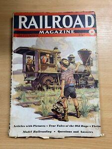 "SEPT 1938 ""RAILROAD MAGAZINE"" USA PUBLICATION ILLUSTRATED VINTAGE MAGAZINE (LL)"