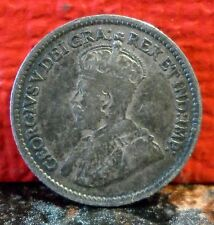 Very Nice Book Toned 1913 Silver 5 Cent from Canada KM# 22