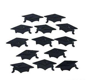 Graduation Mortarboard Hat Confetti Grad Caps in School Colors or Class of 2020
