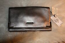 Michael Kors Gray Genuine Leather Beverly Clutch/Shoulder Bag, NWT