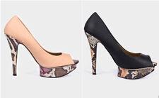Stiletto Peep Toes Animal Print Casual Heels for Women
