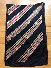 """vintage 70'S/80'Ss Echo oblong Black And Striped Colors 14x45"""""""