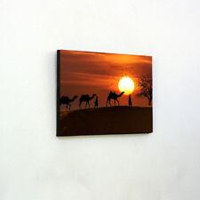 Camels sunset desert Egypt - Wooden Wall Art -Wall Hanging, Panel Art,Wall Decor