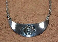 M.M. Rogers Navajo Sterling Silver & 14k Bear Fetish Pendant Necklace [11Wei]