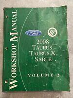 2008 Ford Taurus Sable Volume 2 Service Repair Workshop Powertrain Manual