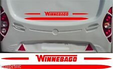 WINNEBAGO MOTORHOME 2 PIECE KIT DECALS STICKER CHOICE OF COLOUR & SIZE #3
