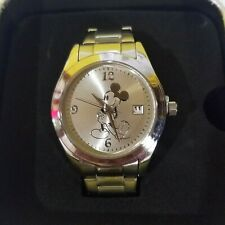 Disney  Vintage Mickey silver and gold Watch with date Shanghai Resort- New
