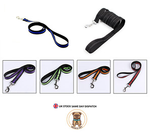 REFLECTIVE Durable DOG LEADS Puppy Leash Strong Nylon Dog Lead Training 1.2 M