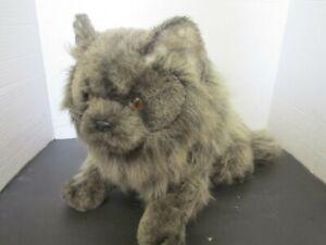 "Vintage Avanti Applause Grey Persian Plush Cat Wallace Berrie 1984 14"" Length"