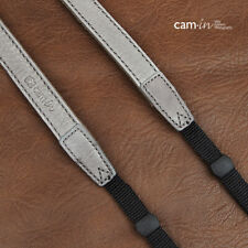 Grey Leather adjustable DSLR Camera Strap by Cam-in