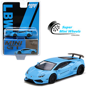 Mini GT 1:64 LB WORKS Lamborghini Huracan Ver. 1 (Light Blue) #189