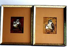 Artist Richard Hinger Set of 2 Barn And Screech Owl Matted Prints