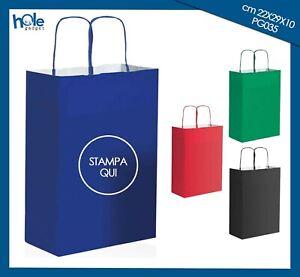 Shopper Buste di Carta Personalizzate con Logo Sacchetti per Attività Commercio