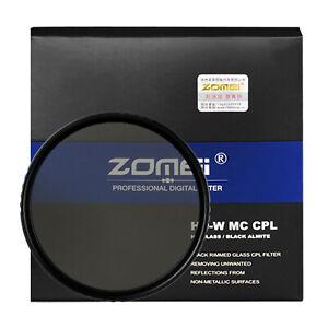 ZOMEi 49-82mm Slim HD Optical Glass CPL Circular Polarizing Polarizer Len Filter