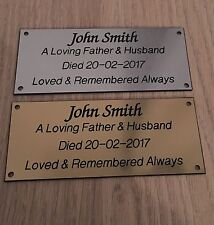 Brass Effect or Silver Memorial Bench Plaques