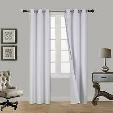 2PC Insulated Lined Foam Blackout Bronze Grommet Window Curtain Panels A72