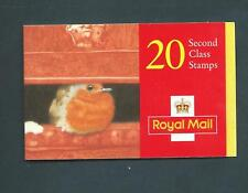 Lx10 Christmas 1995, 20 X 2nd / 19p barcode Booklet. Robin in postbox aperture