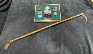 QSA South African Anglo Boer War 5 Clasp Medal Grouping Cap Badge & Riding Crop