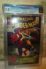 marvel comics CGC Spiderman 42 7.0 high grade Mary Jane face revealed amazing