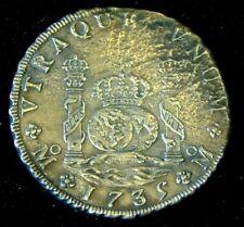More details for super rare large 1735 pillar dollar or piece of 8 - hollandia shipwreck 1743 voc
