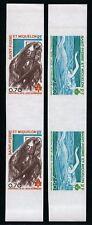 St Pierre und Miquelon 1976 Olympiade Geschnitten Imperf Stegpaare 519-20 M€ 140