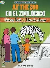 USED (GD) At the Zoo/En el Zoológico: Bilingual Coloring Book (Dover Children's