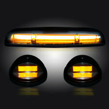 2002-2007 Chevy Silverado GMC Sierra Clear Cab Roof Lights High Power Amber LEDs